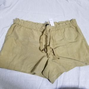 NWT LOFT Khaki Elastic Drawstring Shorts XL